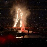 Feb 3, 2013; New Orleans, LA, USA; Beyonce performs during the halftime show in Super Bowl XLVII between the San Francisco 49ers and the Baltimore Ravens at the Mercedes-Benz Superdome. Mandatory Credit: Richard Mackson-USA TODAY Sports