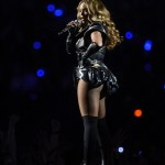 Feb 3, 2013; New Orleans, LA, USA;Beyonce sings at halftime  in Super Bowl XLVII at the Mercedes-Benz Superdome. Mandatory Credit: Jack Gruber-USA TODAY Sports