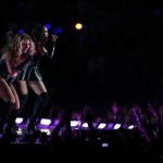 Feb 3, 2013; New Orleans, LA, USA; Recording artist Beyonce performs during the halftime show of Super Bowl XLVII between the San Francisco 49ers and the Baltimore Ravens at the Mercedes-Benz Superdome. Mandatory Credit: Derick E. Hingle-USA TODAY Sports