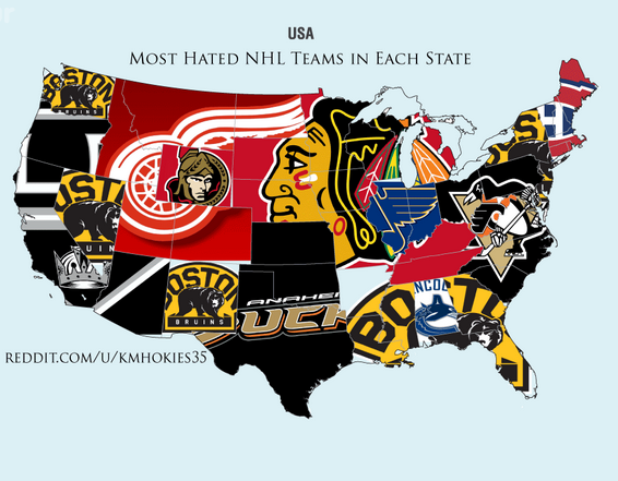 Reddit survey shows the most d NHL teams in the United ... on
