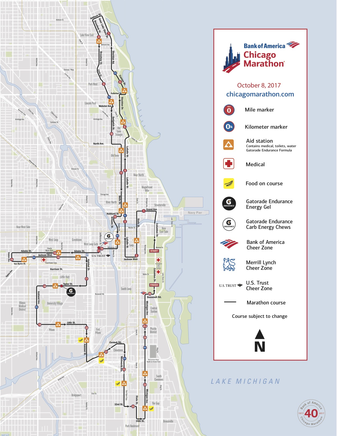 Chicago Marathon: Course map, live stream, TV info and more on chicago marathon race course, cherry blossom 10 miler course map, nyc marathon elevation map, boston marathon course map, flying pig half marathon course map, outer banks marathon course map, miami half marathon course map, berlin marathon course map, rome marathon course map, chicago marathon course profile, bay to breakers course map, maine marathon course map, eppie's great race course map, louisiana marathon map, grandmas marathon course map, marine corps marathon course map, el paso marathon course map, prague marathon course map, paris marathon course map, dubai marathon course map,