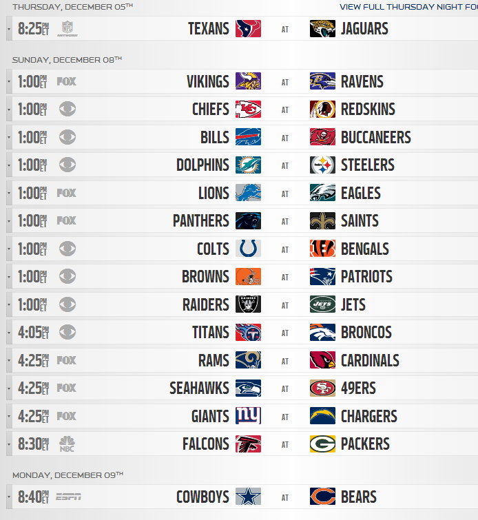 image relating to Nfl Week 14 Printable Schedule known as 2013 NFL Regular monthly Time Timetable Produced