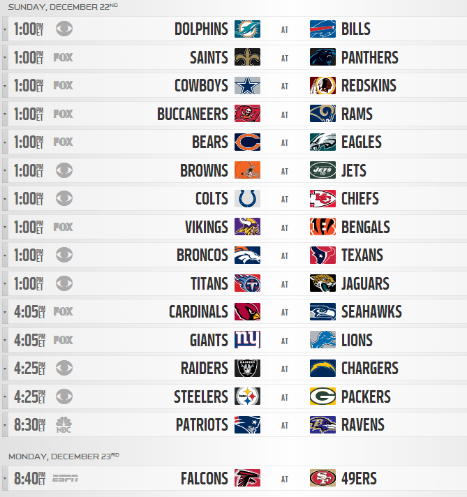 image relating to Nfl Schedule Week 17 Printable identify 2013 NFL Month to month Year Timetable Produced