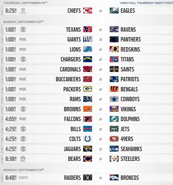 image about Nfl Week 8 Printable Schedule identified as 2013 NFL Every month Year Routine Introduced