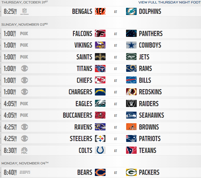 photograph regarding Nfl Week 9 Schedule Printable identified as 2013 NFL Monthly Period Agenda Produced