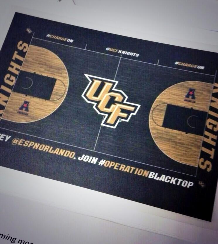 Ucf Knights Unveils New Black Basketball Court Photo