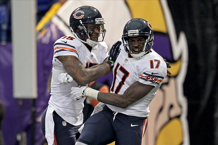 cheap for discount aef64 dc086 Chicago Bears' Brandon Marshall and Alshon Jeffery having a ...