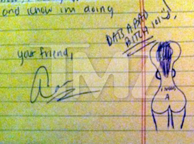 Aaron Hernandez Doodles Picture Of Naked Woman On Jailhouse Letter