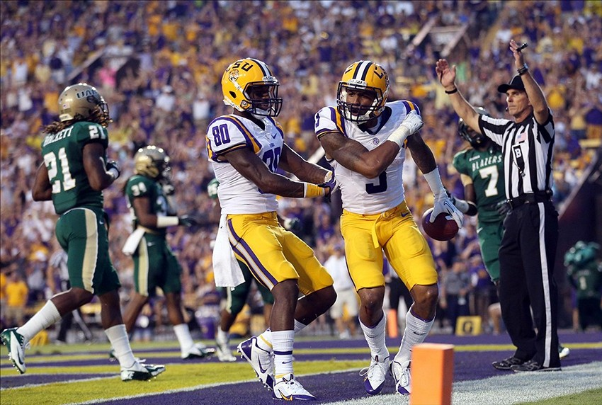 Lsu Wide Receivers Jarvis Landry And Odell Beckham Jr To
