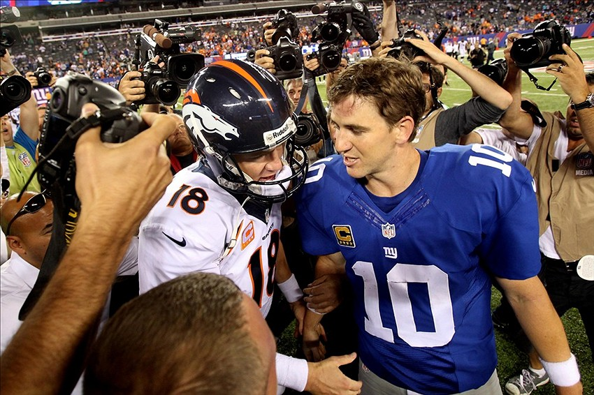 new concept e9236 4e5f0 Eli Manning has to buy Peyton Manning's Super Bowl XLVIII ...