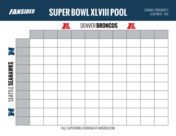 Divine image in printable super bowl pool