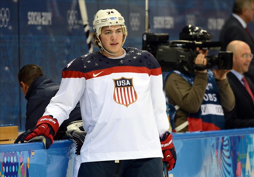 competitive price d1b91 14f38 Olympics, USA-Russia: Oshie Owns Sochi shirts already being ...