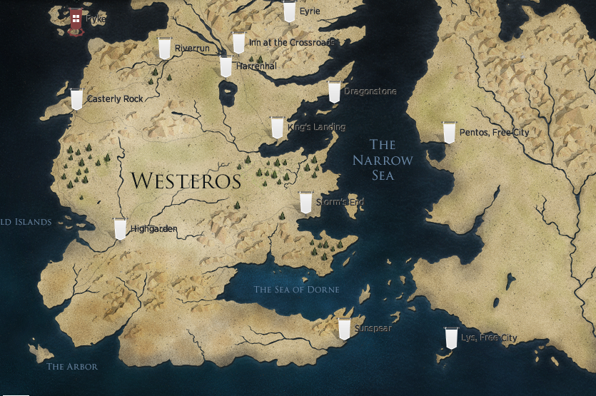 Game of Thrones: Interactive map of Westeros