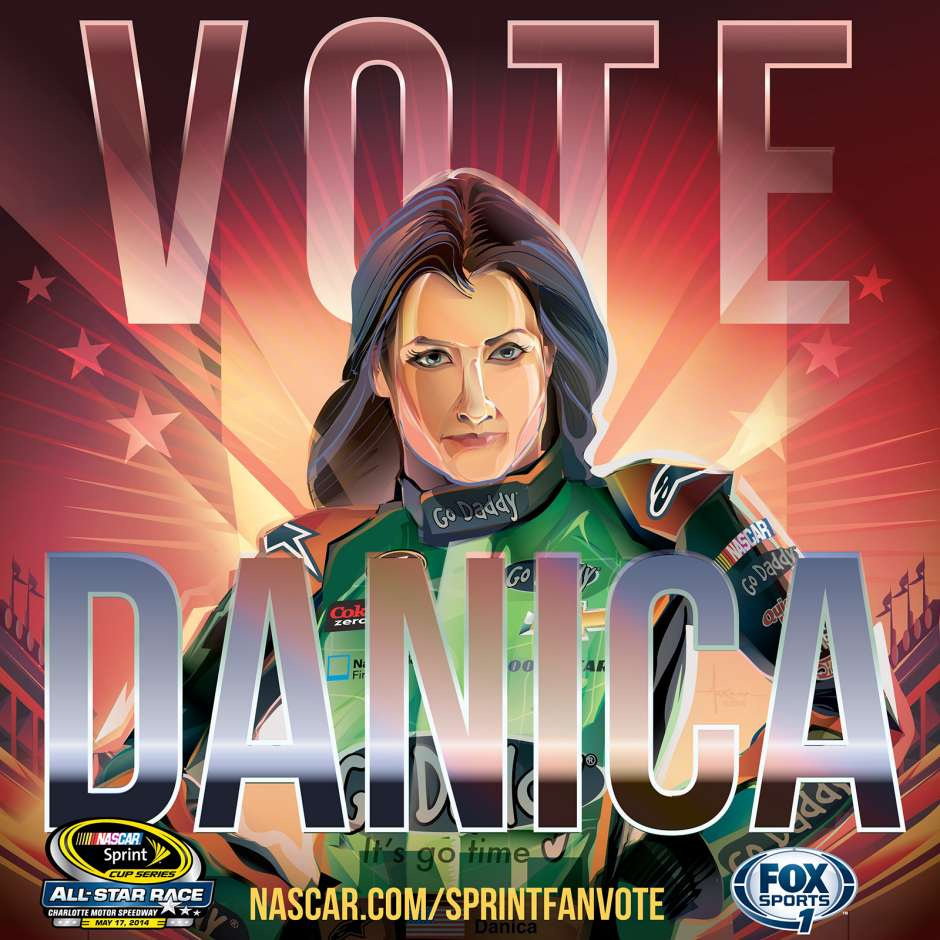 sprint all star race 10 finalists for fan votes get cool posters