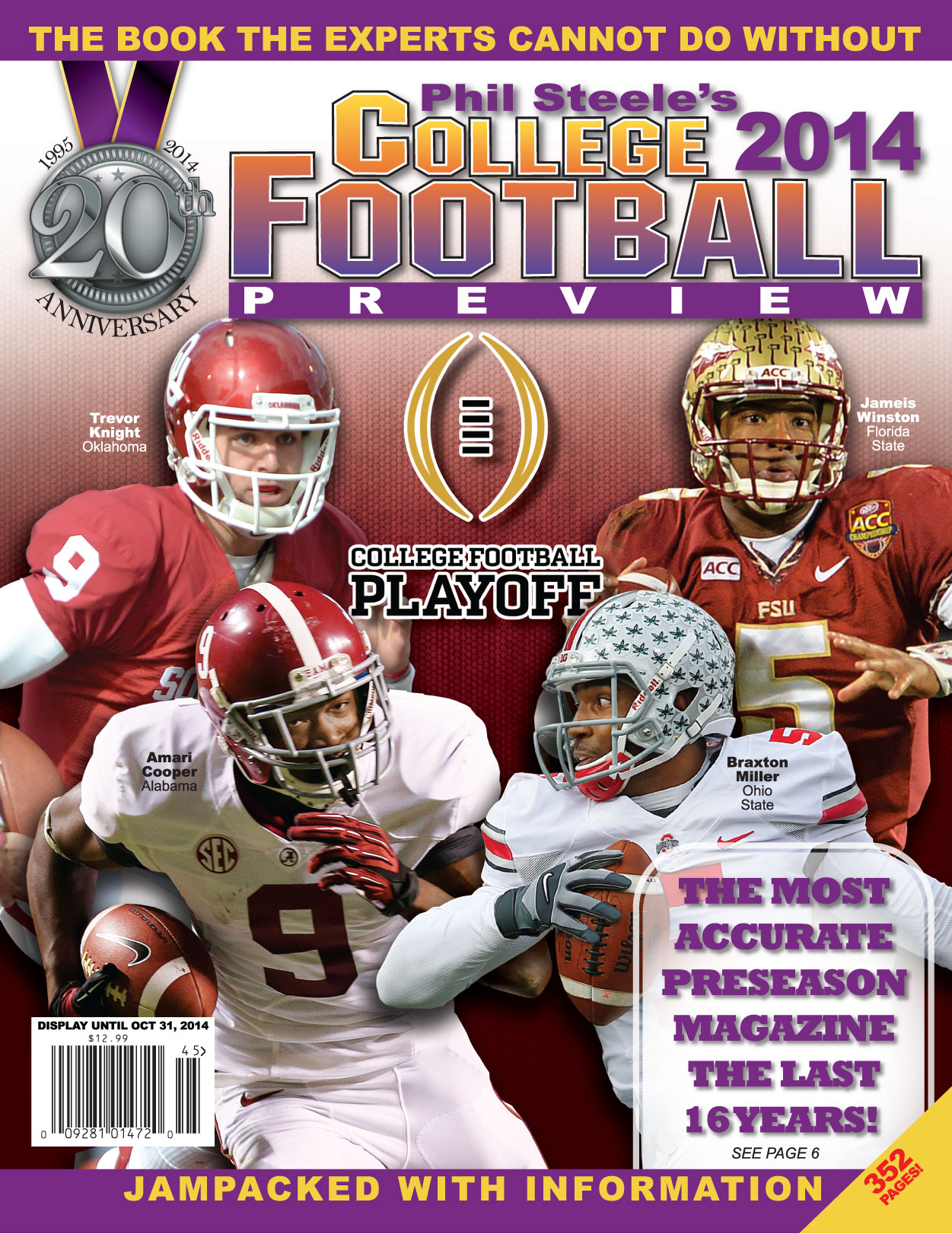 Phil Steele reveals national cover for 2014 college football