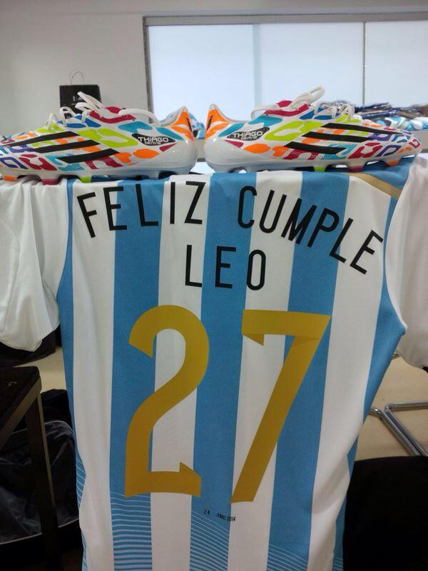 48e602dab Messi also received a special birthday jersey to go along with the boots.