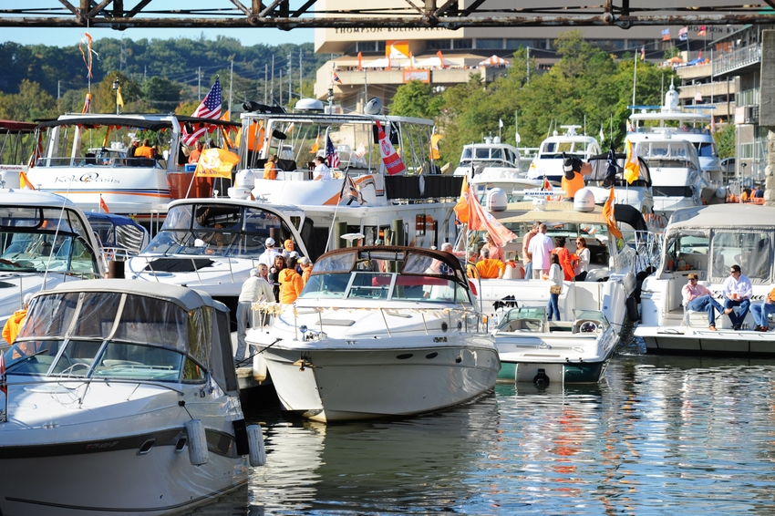 Image result for tennessee football tailgating boat