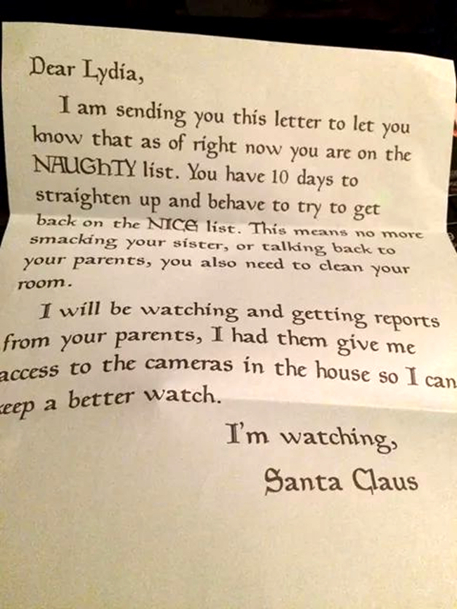 creepy letter from santa claus should frighten us all