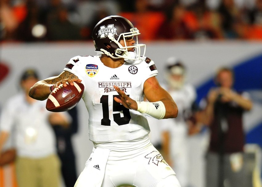 innovative design e637b 8a7fd Mississippi State QB Dak Prescott returning for senior season