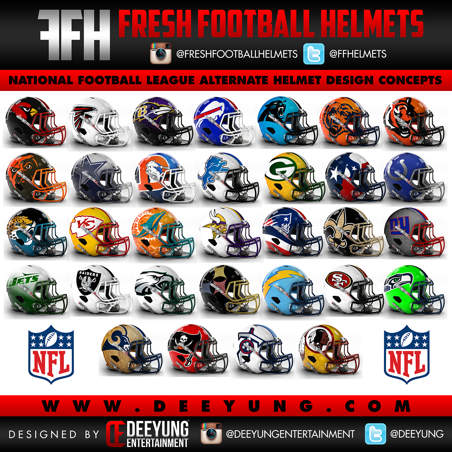 Team Colors: Bold New Concept For The NFL's Helmets