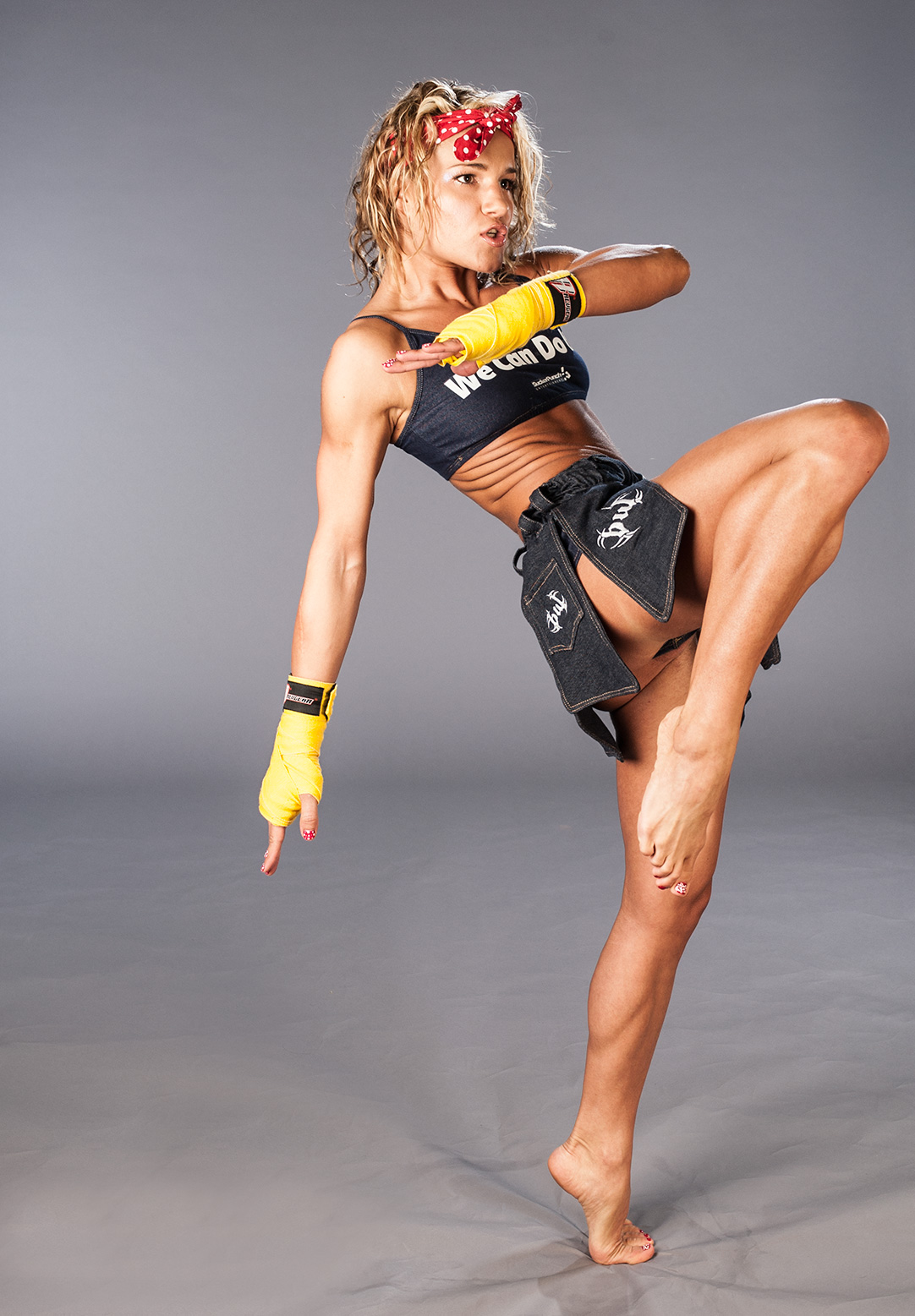 She is a fighter training her ass