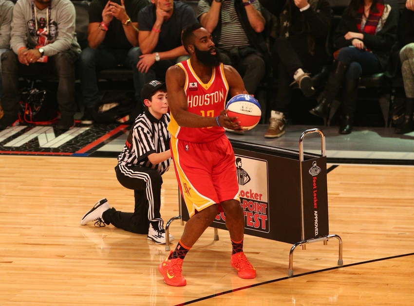 best sneakers 9aee1 b2c1e ... harden nike zoom crusaders Feb 14, 2015 New York, NY, USA Houston  Rockets guard James ...