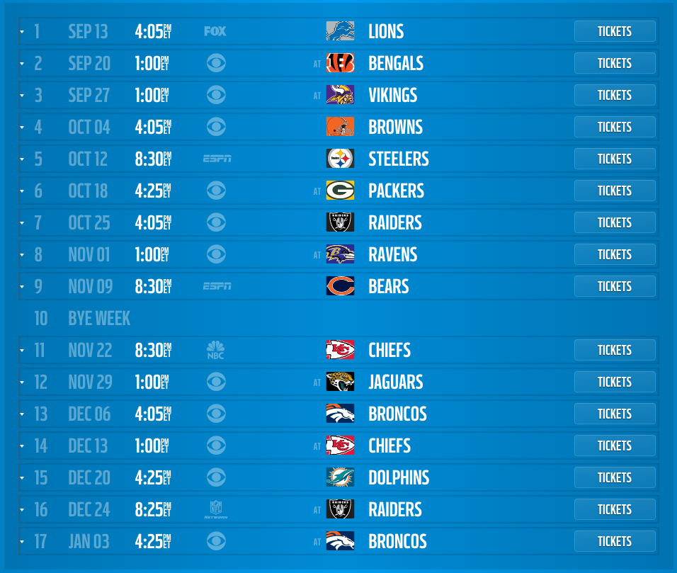 San Diego Chargers Broadcast: San Diego Chargers 2015 Schedule Released, Dates And Times