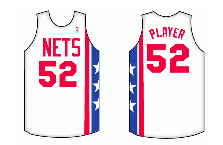72174fe19 New Jersey Nets Home Uniform - National Basketball Association (NBA) - Chris  Creamer s Sports