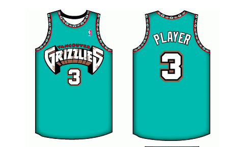 05b59290b8e Vancouver Grizzlies Road Uniform - National Basketball Association (NBA) - Chris  Creamer's Sports Logos