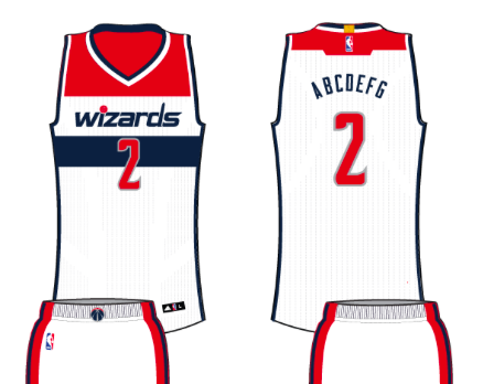 7abb9a1c6 Washington Wizards Home Uniform - National Basketball Association (NBA) - Chris  Creamer s Sports Logos