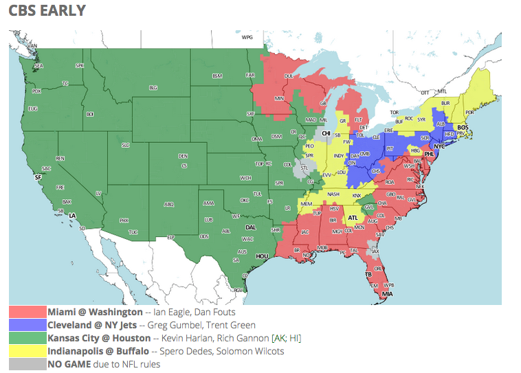 e6408d0ce48 NFL TV schedule and coverage map: Week 1