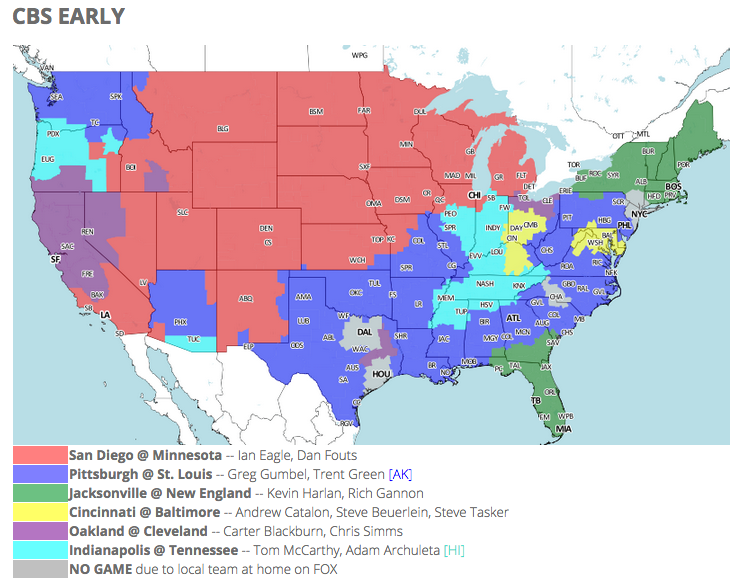 005ec86d656 NFL TV schedule and coverage map: Week 3