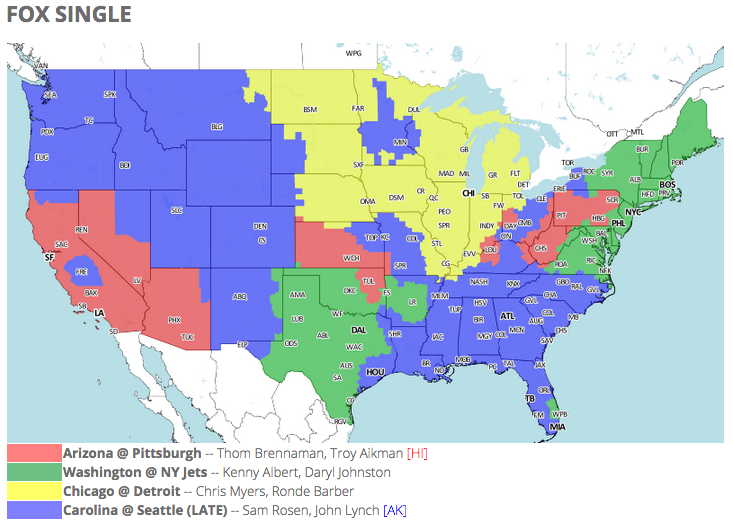 61be27023f0 NFL TV schedule and coverage map: Week 6