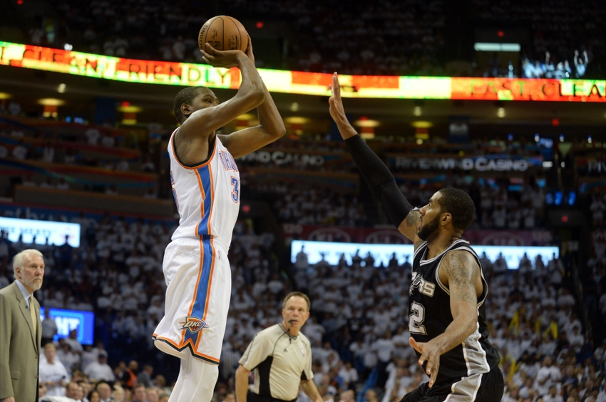 9ba179a049f0 The Thunder and the Spurs in a pivotal Game 5 are the only game on the NBA  schedule tonight