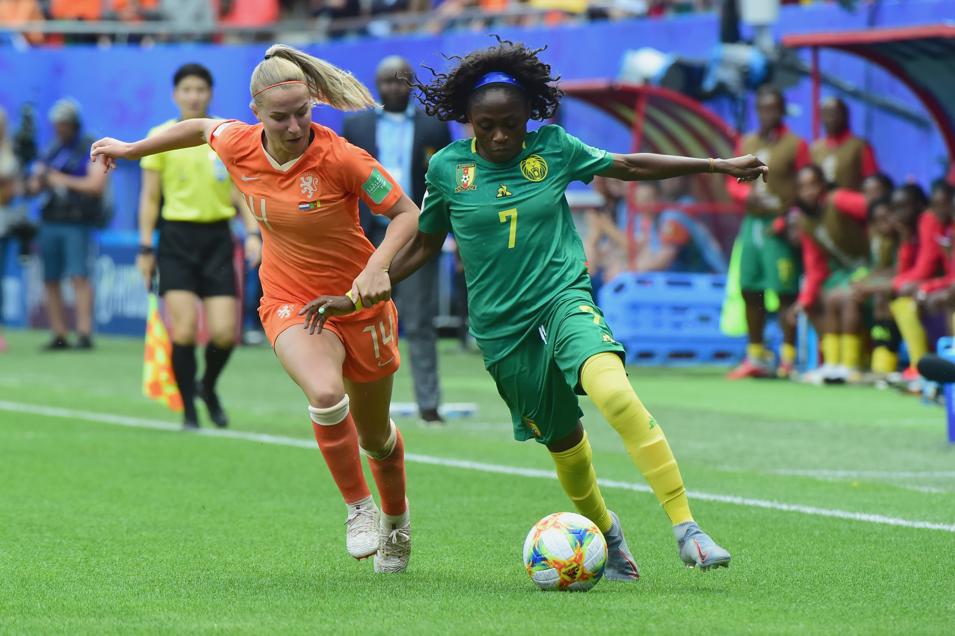 Gabrielle Aboudi Onguene tribute to Cameroon legend after goal (Photo)