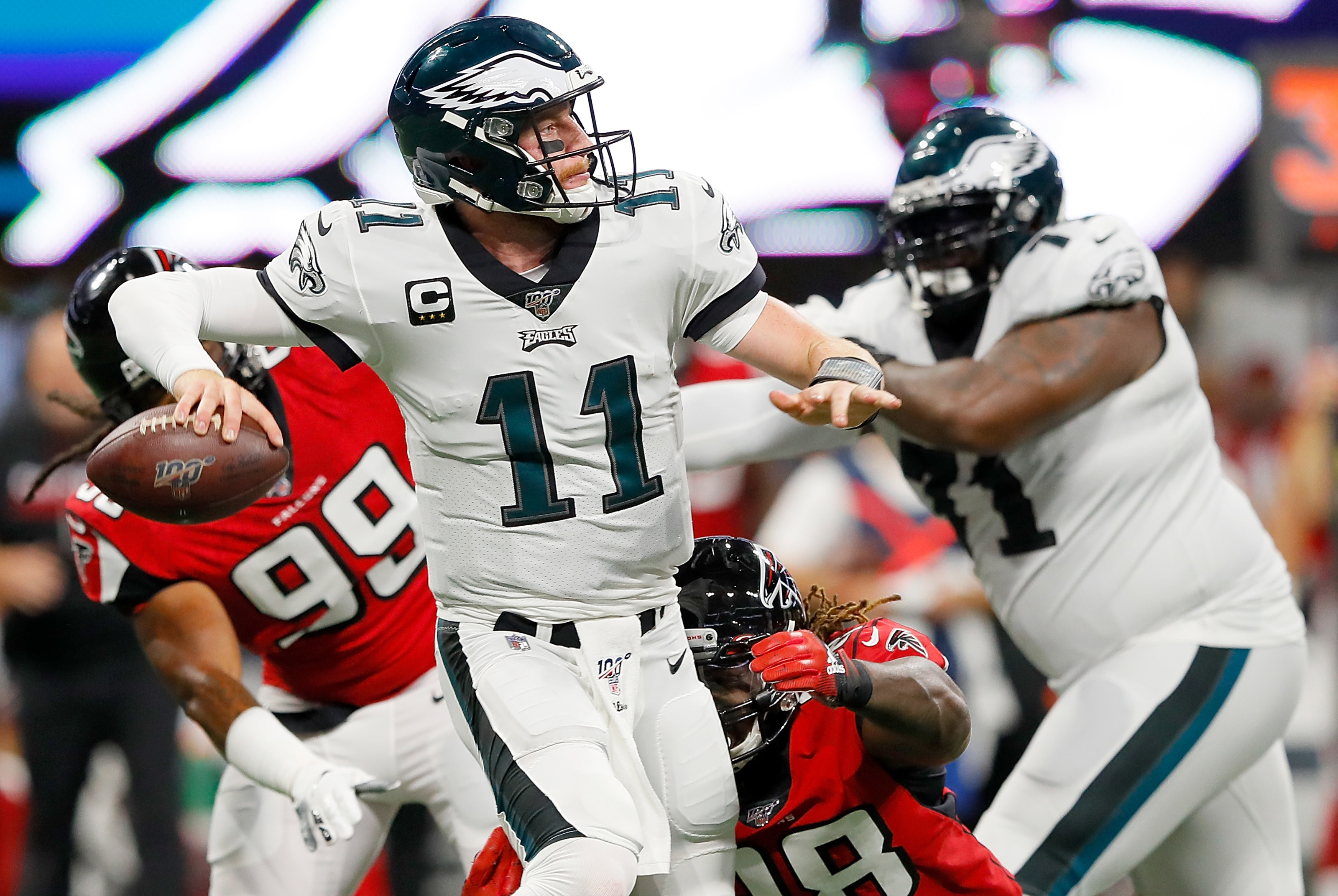Carson Wentz Injured For Eagles Josh Mccown Comes In