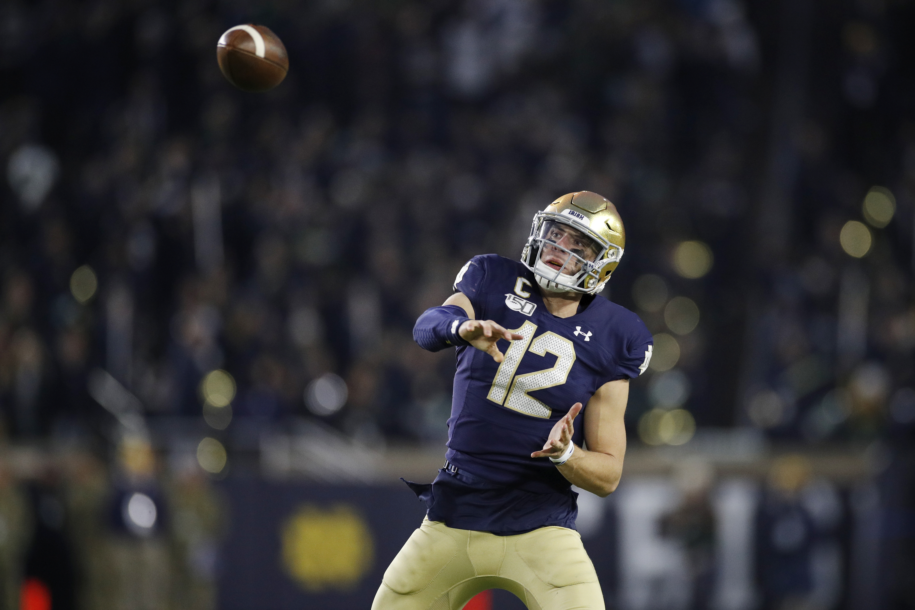 Ian Book shows off new-look Notre Dame football jerseys (Photo)