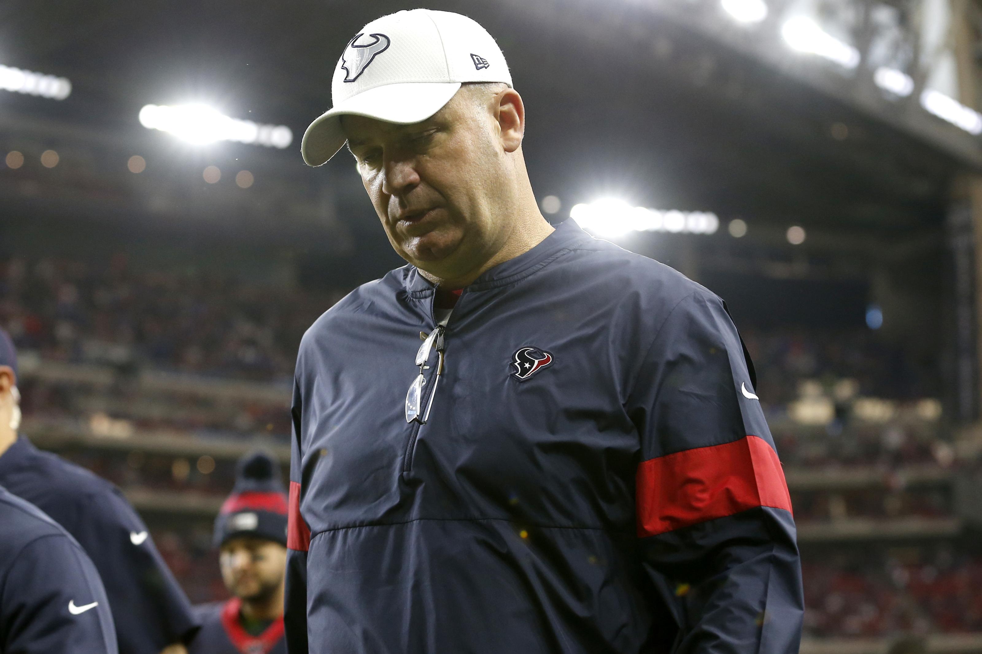 Bill O'Brien foi desastroso como GM e péssimo como head coach. Todas decisões tomada lhe custaram o cargo e deixou o Texans em posição delicada. Foto: Tim Warner