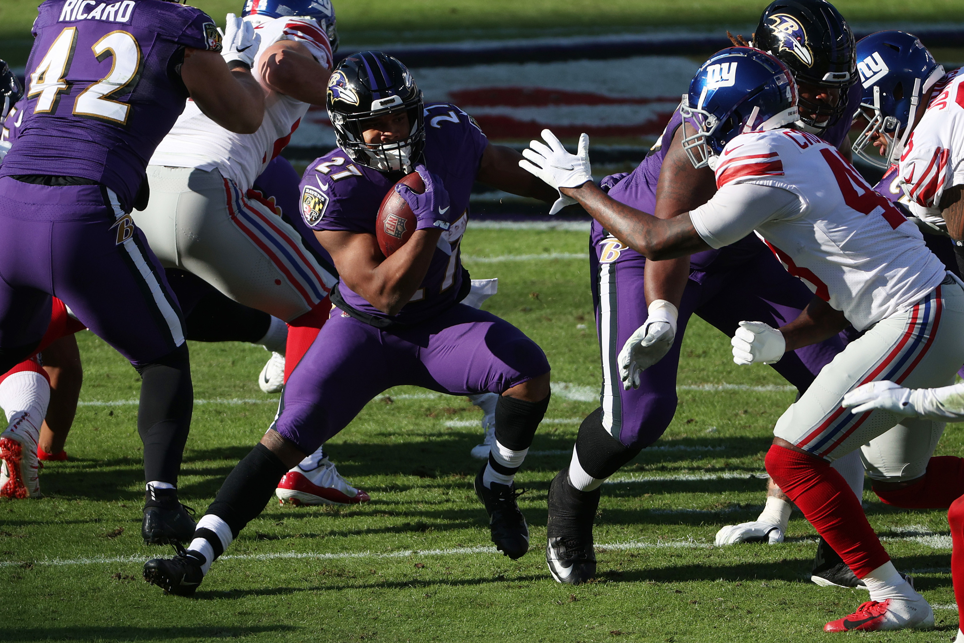 J.K. Dobbins broke a Ravens rookie record that has stood for 20 years