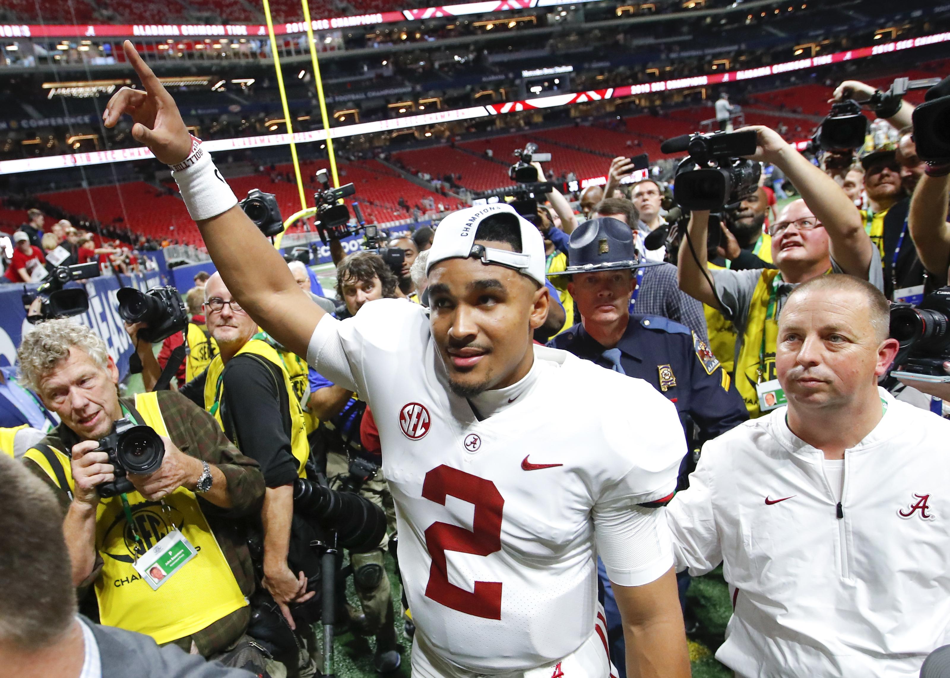 Jalen Hurts Gets Redemption Leading Alabama To Sec Championship