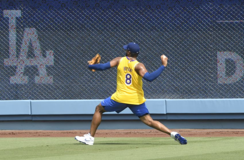Here are the Kobe Bryant jersey's the Dodgers wore