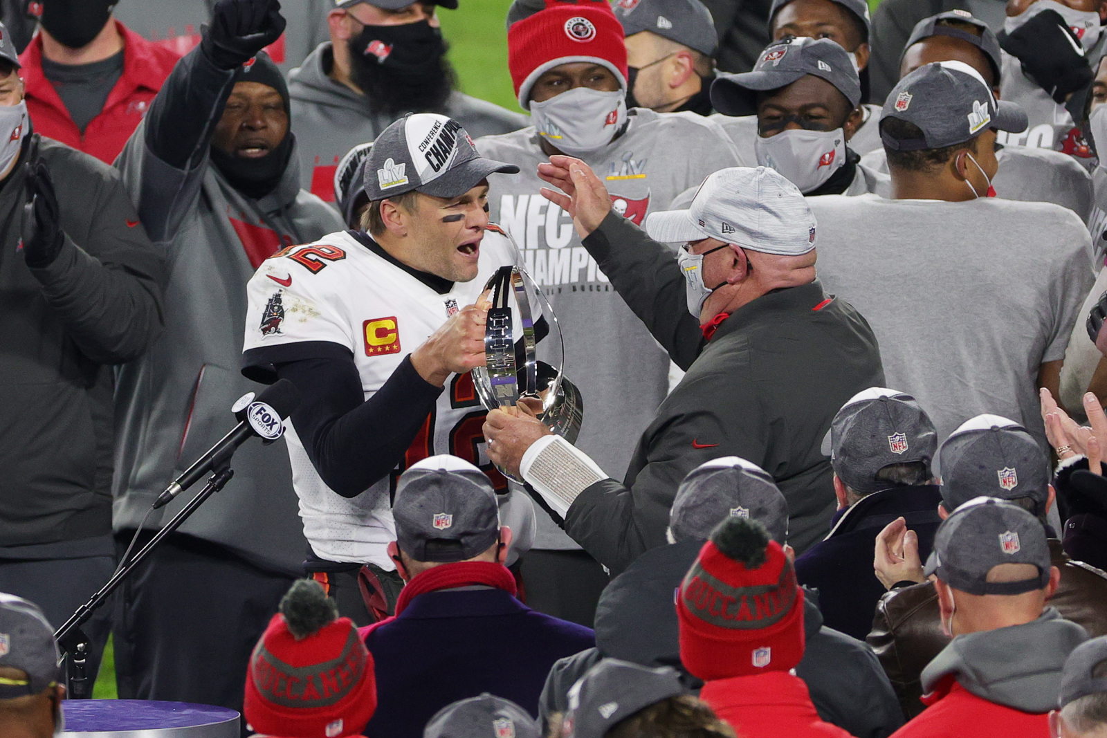 Image result for tampa bay buccaneers nfc championship ceremony